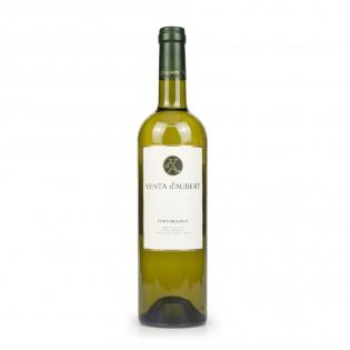 Vista frontal botella de vino blanco floral y afrutado Venta d'Aubert- Agustín Delicatessen